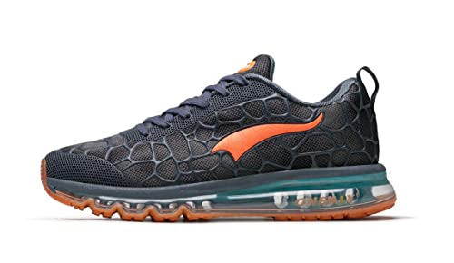 Onemix Men s Air Running Shoes Trainers For Multi Sport Athletic Jogging  Fitness Lake Blue Orange Size d98e7ddc7e6
