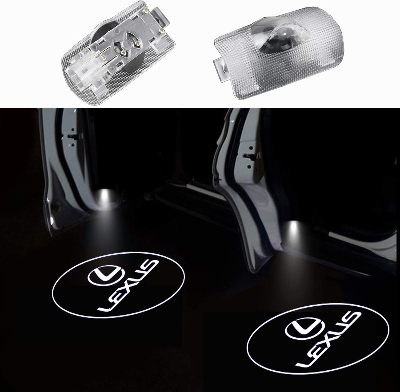 2xWelcome Light Coche ligero de entrada Luz auto de la puerta Puerta de luz Luz Entrada de LOGOTIPO 3D Proyecci/ón de luz Luz de puerta de luz LED