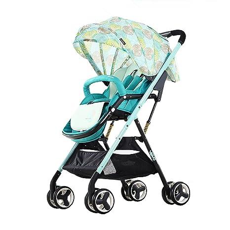 Paisaje Alto Bebé Bebé Niño Cochecito Ligero Paraguas Plegable Coche para Bebés Puede Sentarse Carro para