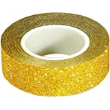 Bodhi2000 1.5 cm X 10 m Paillettes Washi papier collant masquage ruban adhésif étiquette DIY Craft Decor, doré, Taille unique