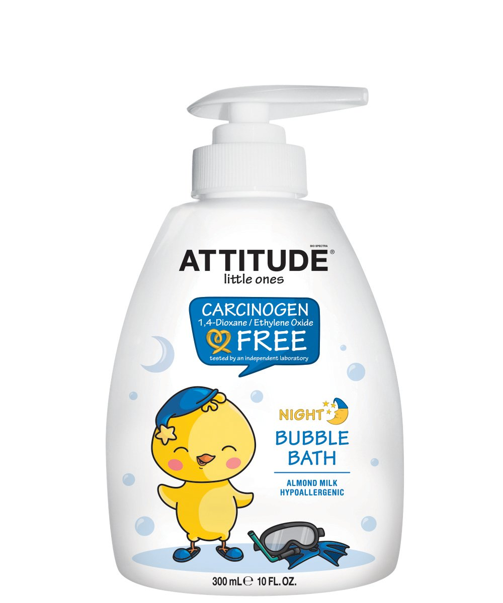 Natural Baby Bubble Bath | Hypoallergenic, Vegan and Dermatologist Tested Kids Bubble Bath | 100% Worry-Free Ingredients | Soothing Almond Milk (10 Fluid Ounce) ATTITUDE B00QEVJ3Z2
