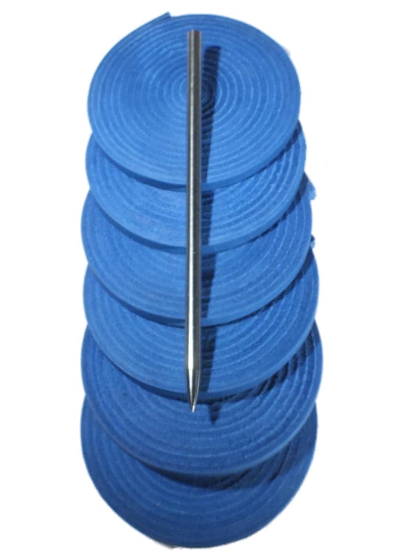 Highlandグループ、野球、ソフトボールグローブレースキット、6レザー靴紐、レザーLacingニードル B06Y6KD9CL ブルー ブルー