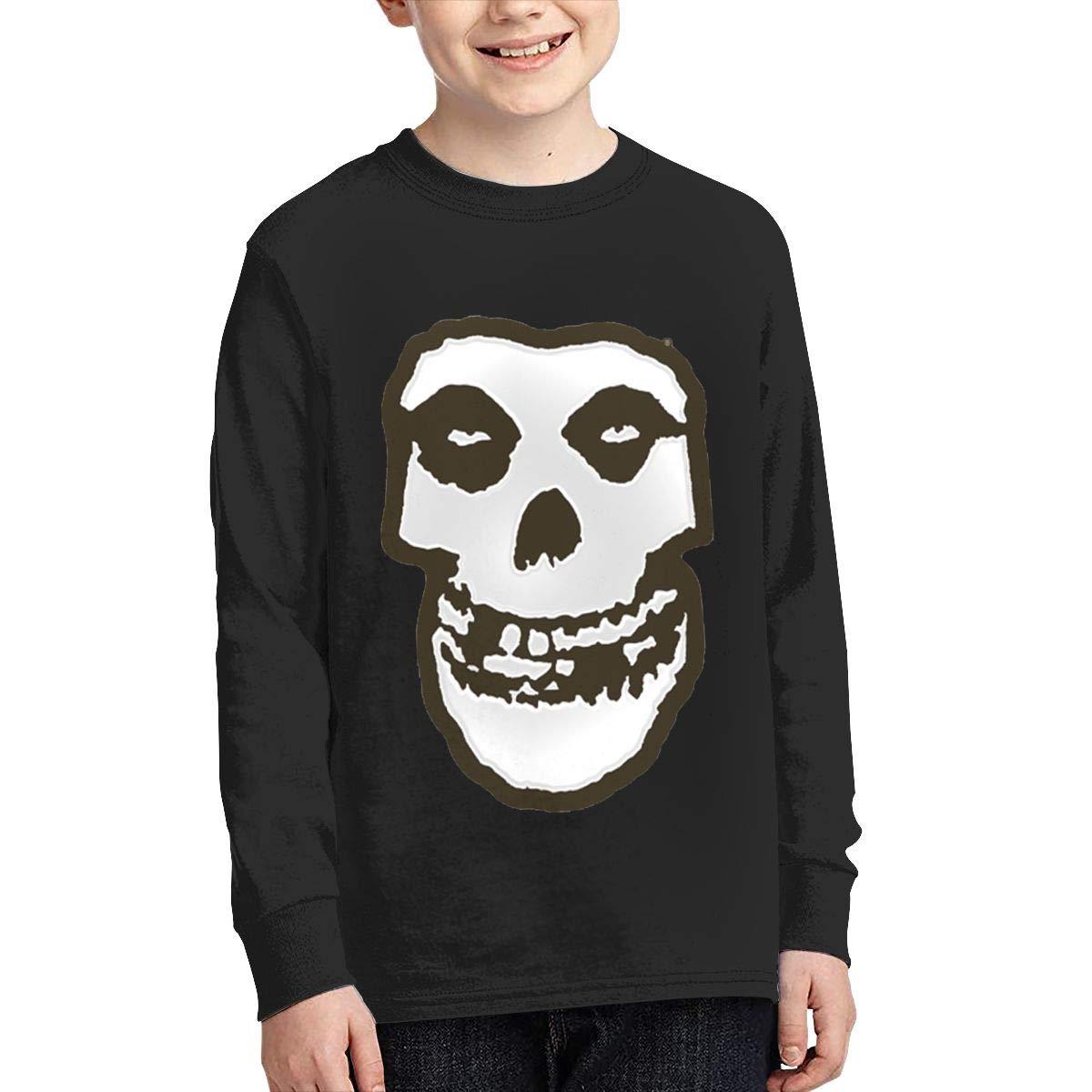 RhteGui Misfits Boys /& Girls Junior Vintage Long Sleeve T-Shirt Black