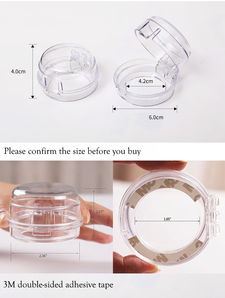Amazon.com: Clear View Estufa Knob Covers con 3 M Cinta 6 ...