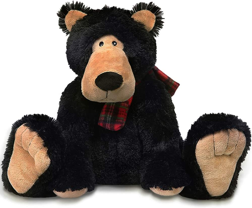 AMERLL Soft Teddy Bear Stuffed Animal Plush Bear Durable Stuffed Animal Teddy Bear Plush Toy Gifts for Toddler Girls Kids,Black,15.7 inches: Toys & Games