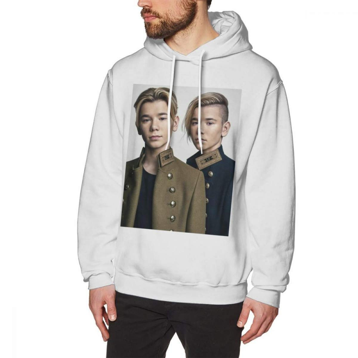 Amazon.com: WEEKEND SHOP Marcus and Martinus Hoodie Pullover Hoodie Cotton Male Long Length XXL Hoodies: Clothing