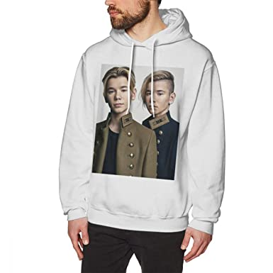 WEEKEND SHOP Marcus and Martinus Hoodie Pullover Hoodie Cotton Male Long Length XXL Hoodies White