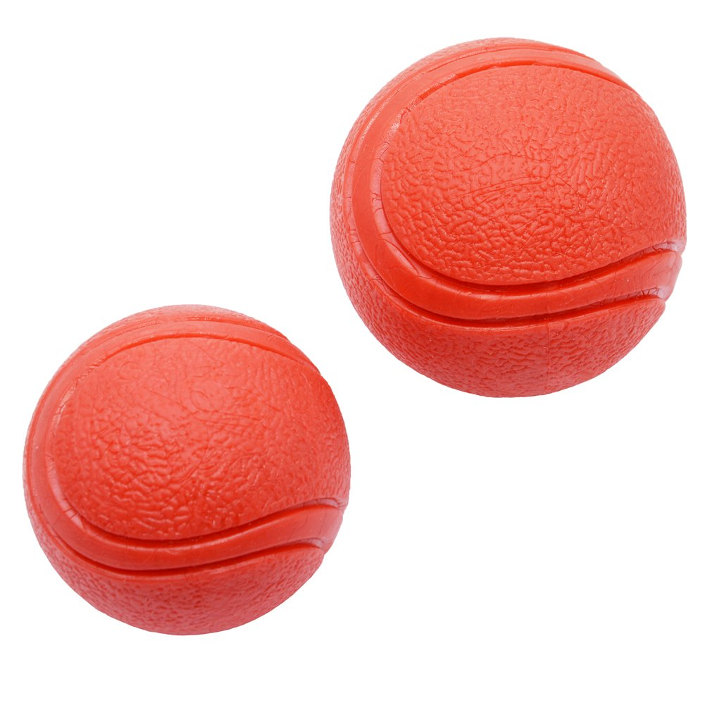 2-Pack Solid Rubber Dog Balls,Dog's Solid Rubber Bouncy Ball Bite Resistant and Indestructible Dog Training Ball,Pet Solid Rubber Bouncy Ball