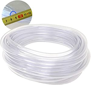 50-FT Food Grade Crystal Clear Vinyl Tubing, 3/8-Inch ID x 1/2-Inch OD