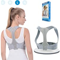 Back Posture Corrector ANOOPSYCHE Clavicle Support Brace Comfortable and Adjustable Straps Prevent Slouching and Hunching Designed for Your Upper Back Straightener for Women Men (L)