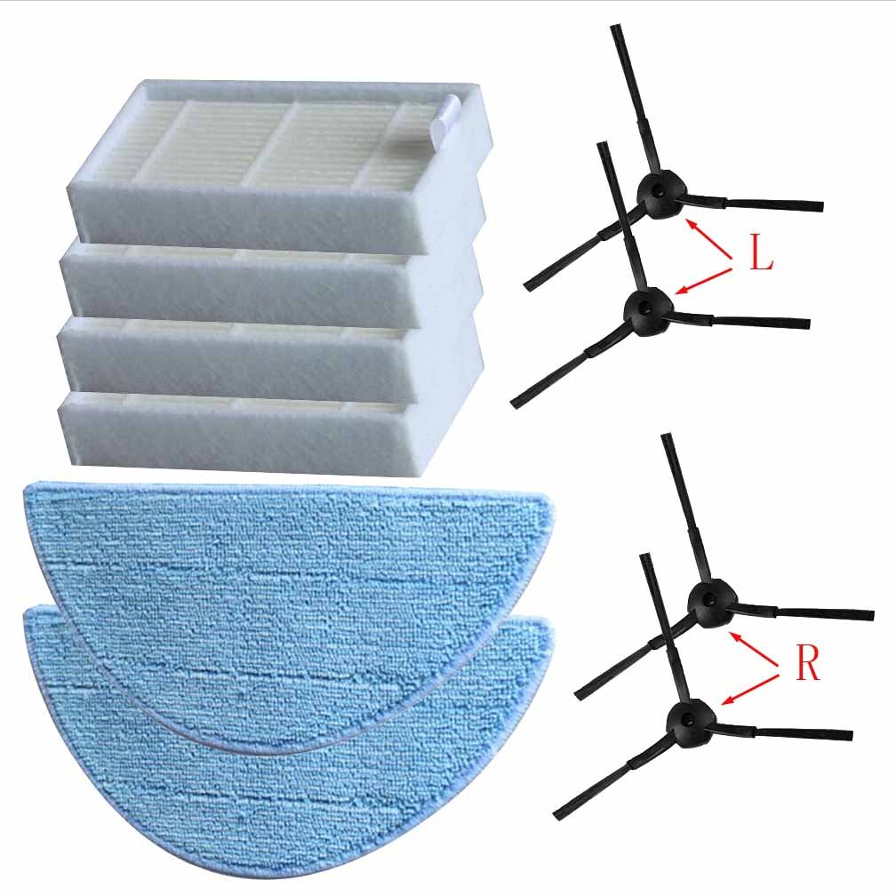 FYH New Cleaning Robot Vacuum HEPA Filter Side Brushes for ILIFE V3 V3s V5 V5s V5s pro Robot Vacuum Cleaner FYIYI