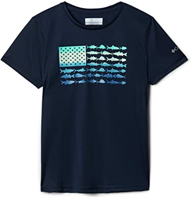 Columbia Girls' PFG Reel Adventure Short Sleeve Tee Shirt, Sun Protection
