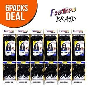 "GODDESS LOC 18"" (6-Pack, 1B) - FreeTress Synthetic Crochet Braid"