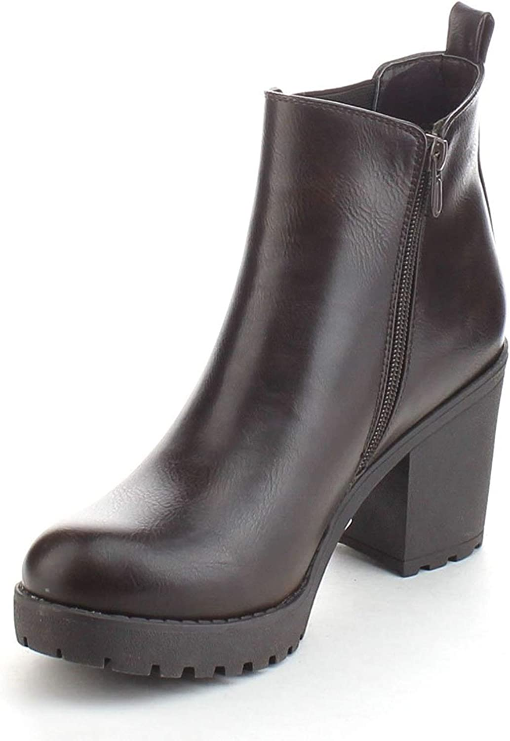 Details about  /Women/'s Round Toe Suede Fabric Chelsea Chunky Heel Ankle Boots 36//43 Winter L