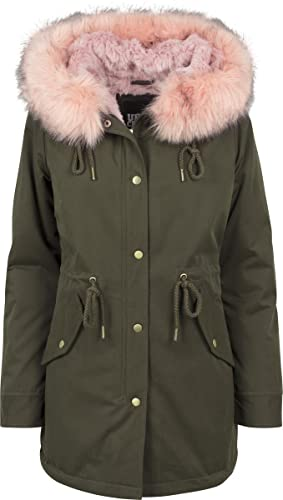 Urban Classics Ladies Peached Teddy Lined, Parka para Mujer