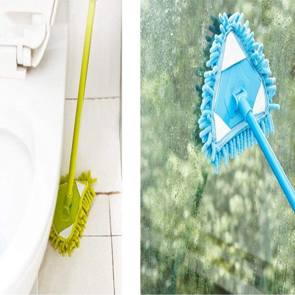 perfecthome Dreieckiger Reinigungsmop Fu/ßboden Wand Und K/üche Passend F/ür Badezimmer Einziehbarer Reinigungsmop Rotierender W/äscher