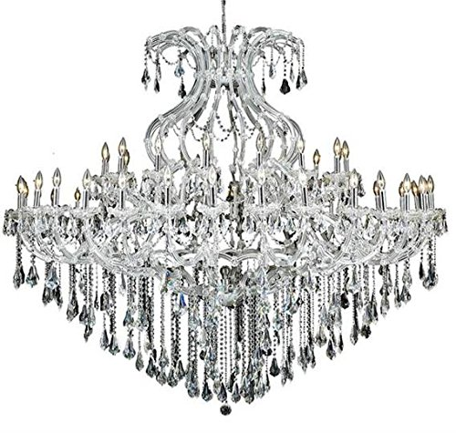 Karla Chrome Traditional 49-Light Grand Chandelier Heirloom Handcut Crystal in Crystal (Clear)-2381G72C-RC--48
