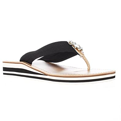 665b1a8123580d Image Unavailable. Image not available for. Color  Tommy Hilfiger Rayce  Wedge Sandal 7 M Black