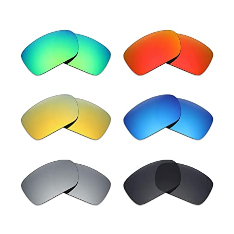 b16450d63d Image Unavailable. Image not available for. Color  Mryok 6 Pair Polarized  Replacement Lenses for Oakley Turbine Sunglass - Stealth Black Fire Red