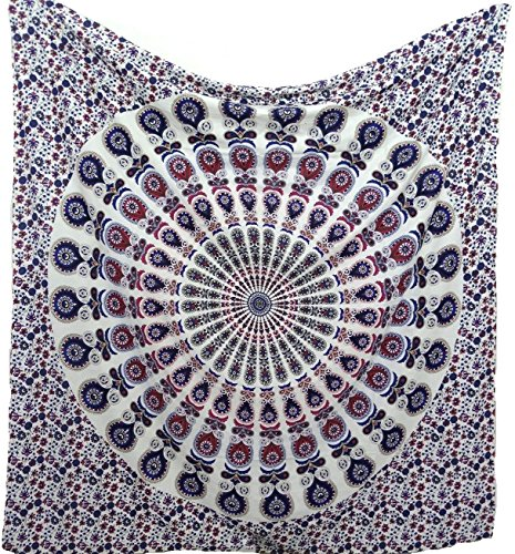 Hippy Mandala Bohemian Tapestries Indian Hippie Tapestry
