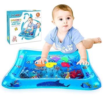 Amazon.com: InSOON - Alfombrilla hinchable para bebés de 3 a ...