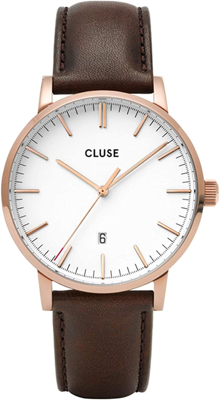 Cluse Aravis Reloj de hombre cuarzo 40mm correa de cuero CW0101501002