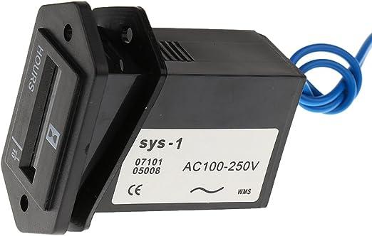 Homyl Ac Digital Lcd Betriebsstundenzähler Stundenzähler Zeitzähler Auto