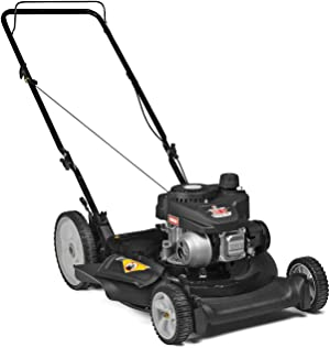Yard Machines 140cc OHV 21-Inch High Wheeled 2-in-1 Walk-Behind Push Gas Powered Lawn Mower - Perfect for Small to Medium Sized Yards - Side Discharge and Mulching Capabilities, Black