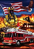 """ Firefighters "" – Patriotic – Double Sided, Standard Size, 28 Inch X 40 Inch Decorative Flag"