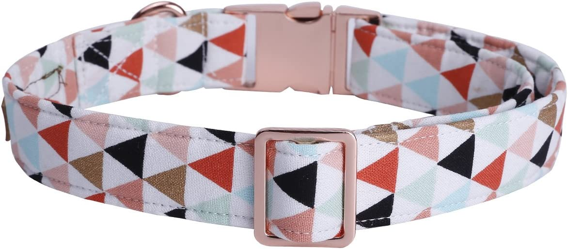 USP Pet Soft/&Comfy Bowtie Dog Collar and Cat Collar Pet Gift for Dogs and Cats Adjustable Pure Cotton Collars 6 Sizes and 5 Patterns