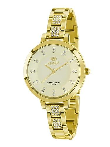 Marea B54136/4 Reloj Mujer Cuarzo Metal Dorado Tamaño 34 mm: Amazon.es: Relojes