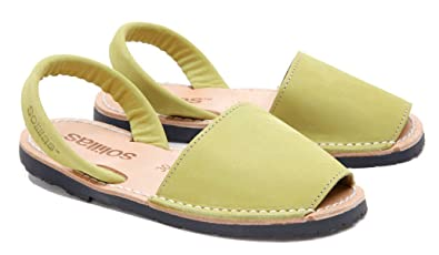 Solillas Original Menorcan Sandals Jungla Khaki Olive Green EU Size 30 UK