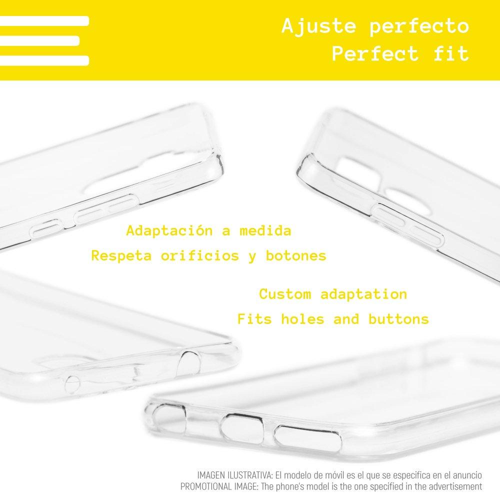 Siempre contigo Dise/ños Ilustraciones 3 Gel Silicona Flexible, Dise/ño Exclusivo Funnytech/® Funda Silicona para Sony Xperia L1 Nunca Solo Frases El caf/é