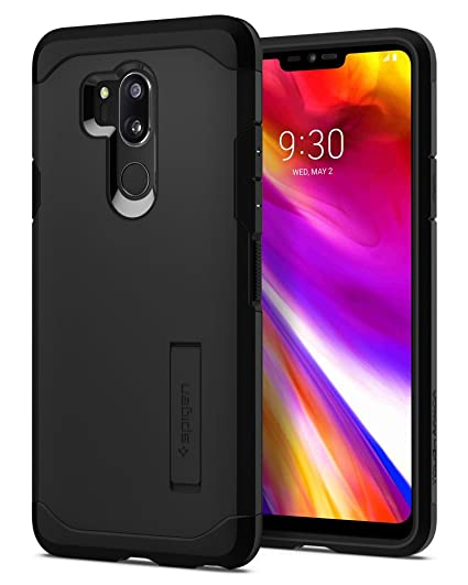 separation shoes c4d82 84ac9 Spigen Tough Armor Designed for LG G7 Case/LG G7 ThinQ Case (2018) - Black