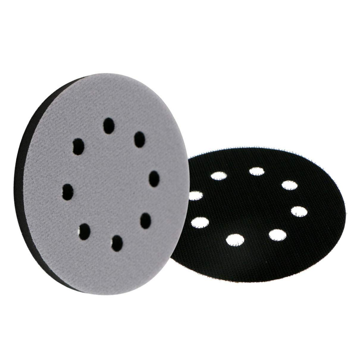 5 Inch Interface Pad 8 Holes Soft Sponge Sanding Disc Backing Pads with Interface Pad Protection Disc Hook and Loop Attachment Power Tools Accessories 125mm by VIBRATITE by VIBRATITE