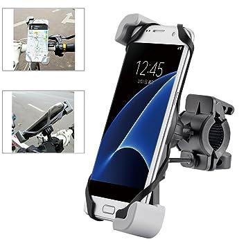 Metal Anti vibración Soporte de Bicicleta Soporte Para Teléfono Celular Universal Prevención de Caídas Manillar de