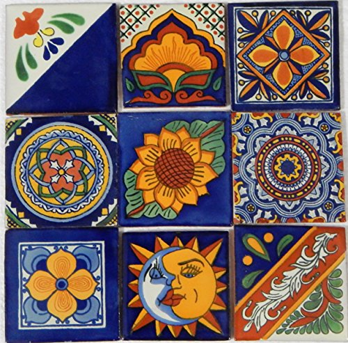 Color y Tradicion 9 Hand Painted Talavera Mexican Tiles 4
