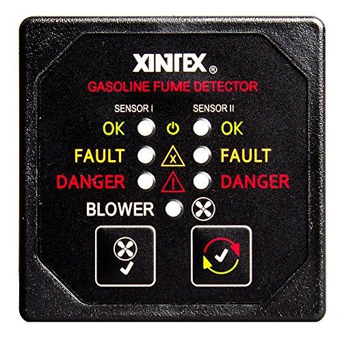 Fireboy-Xintex Xintex Gasoline Fume Detector & Blower Control w/2 Plastic Sensors - Black Bezel Display