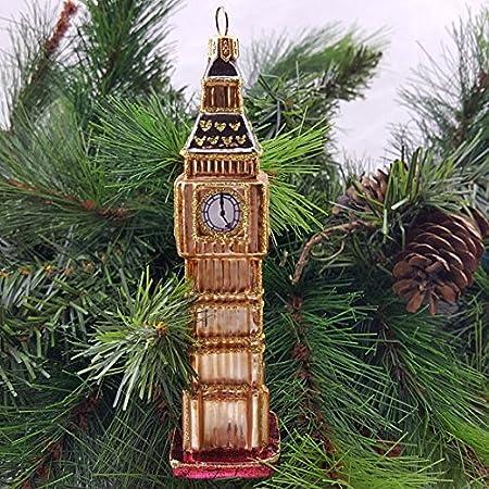 f5a4338322c8 Big Ben- London Souvenir- Christmas Tree Ornament Decoration Bauble- London's  Big Ben - Gold Ornament- Stunning decoration GIFT IDEA Retro: Amazon.co.uk:  ...