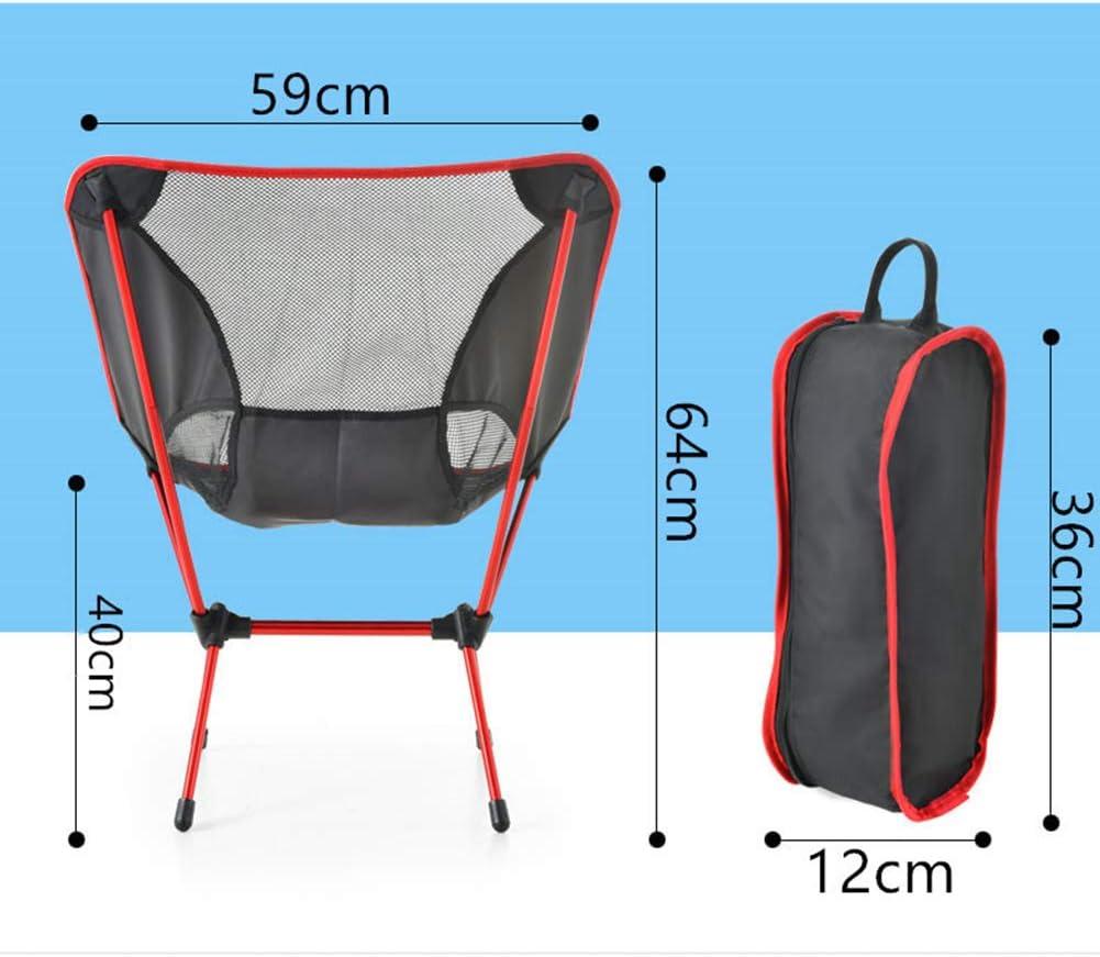 WANGLXFC Klappstühle, Campinghocker Kompakt, Ultraleichter Mini Campingstuhl klappbarer Strandstuhl mit Aluminiumgestell - Stabiler Outdoorstuhl B
