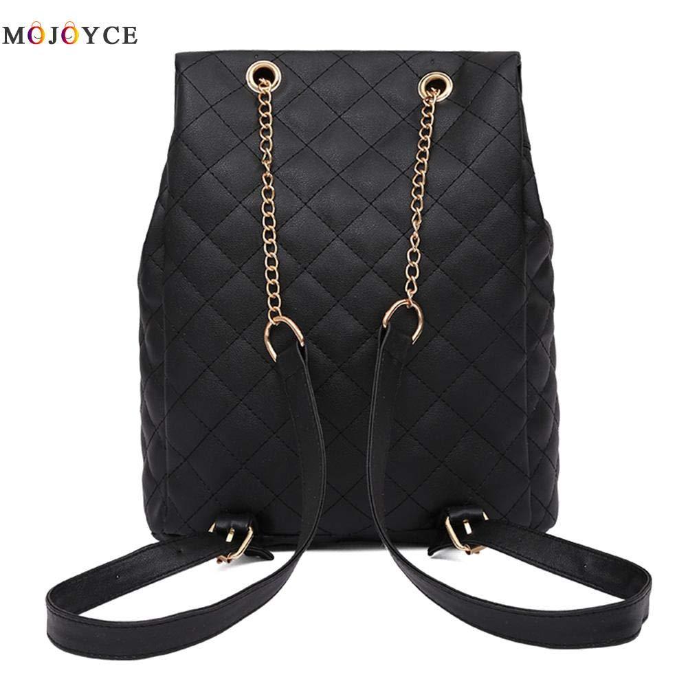 Amazon.com: Women Backpack Teenage Girls Lattice Causal Hasp Shoulder PU Leather Mochila Feminina Female Knapsack: Kitchen & Dining