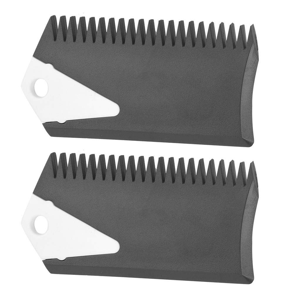 Alomejor Surfboard Wax Comb Surf Wax Set Fin Wax Comb Surfboard Wax Surf Board Wax Scraper Cleaning Remover Comb Tool for Skaeboard Surfing Board 2Pcs