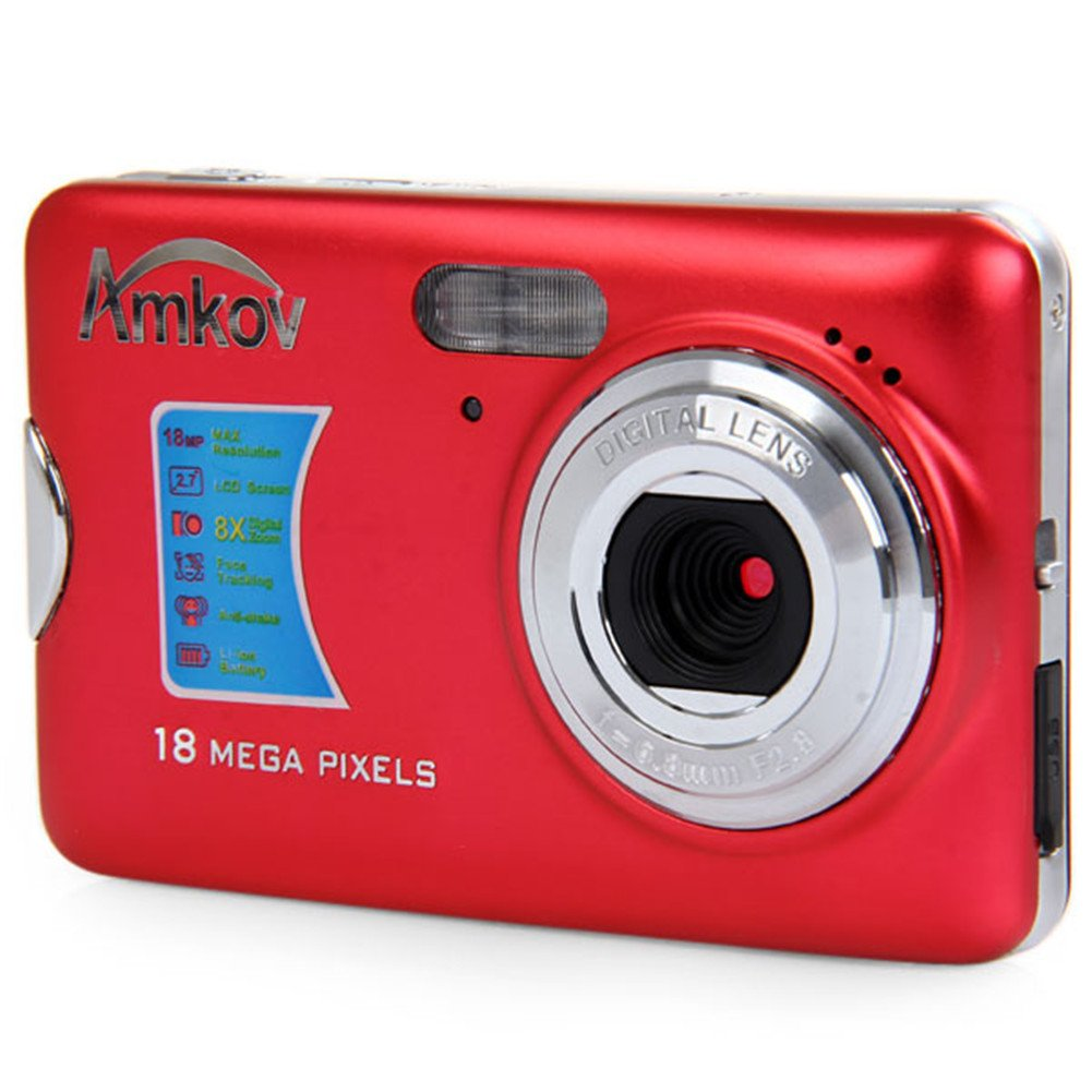 Amkov AMK-CDFE Mini Digital Camera 18 Megapixel 2.7 Inch Display Mini Portable High-definition Shooting Camera Pocket Camera