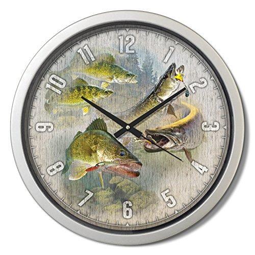 'Walleye and Pike' Classic Clock