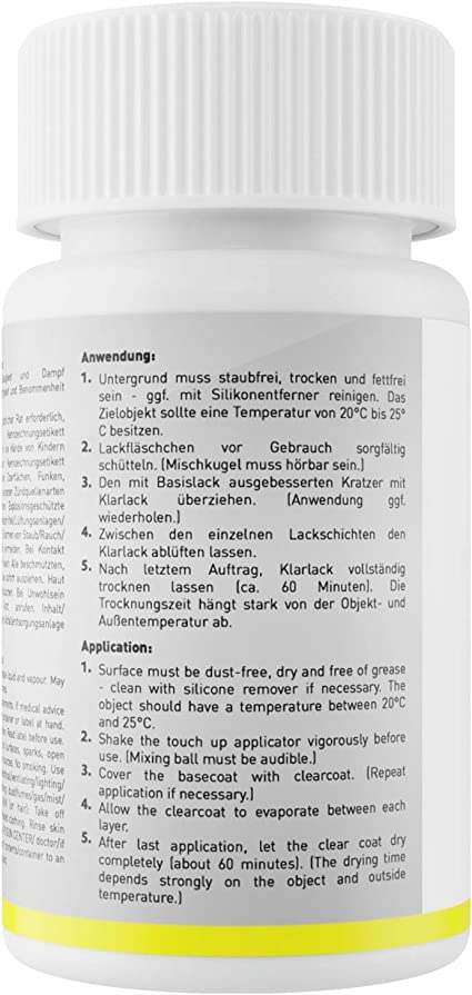 Mg Prime Autolack Lackstift Set Für Audi Lz7q X1 Austerngrau Metallic Oyster Grey Metallic Basislack Klarlack Je 50ml Auto