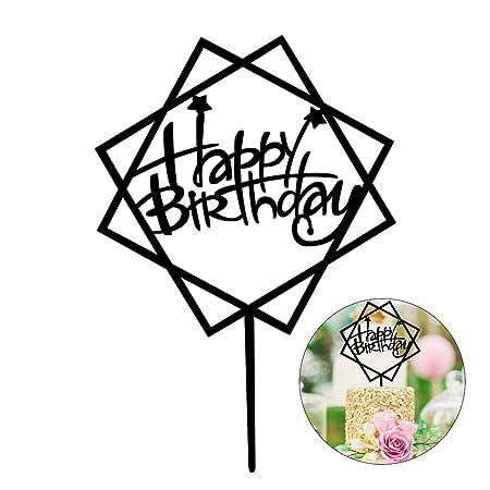 luoem feliz cumpleaños decoración para tarta para Pentágono ...