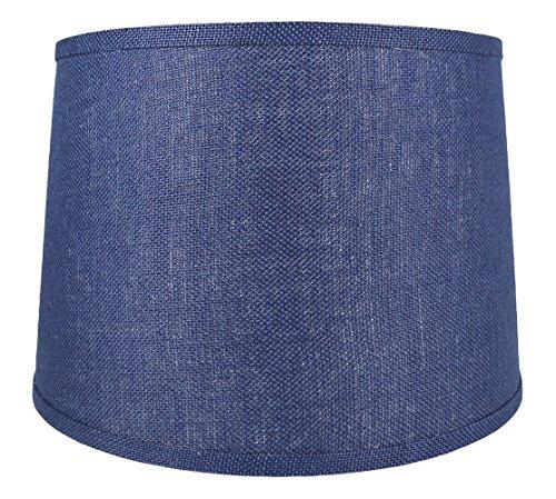 Navy Blue Drum (Urbanest French Drum Burlap Lampshade, 14-inch by 16-inch by 11-inch, Navy Blue)