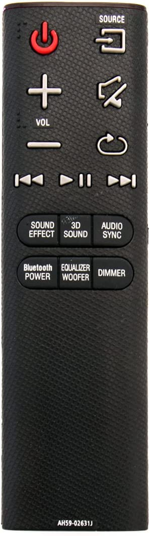 Mando a Distancia de Repuesto Vinabty AH59-02631J Compatible con Samsung SoundBar HW-H430 HW-H450 HW-HM45 HW-HM45C HWH430 HWH450 HWHM45 HWHM45C y más.: Amazon.es: Electrónica