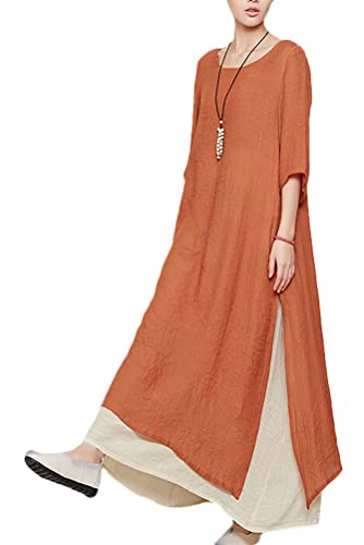 Mordenmiss Women's Summer Two Layers Maxi Dresses