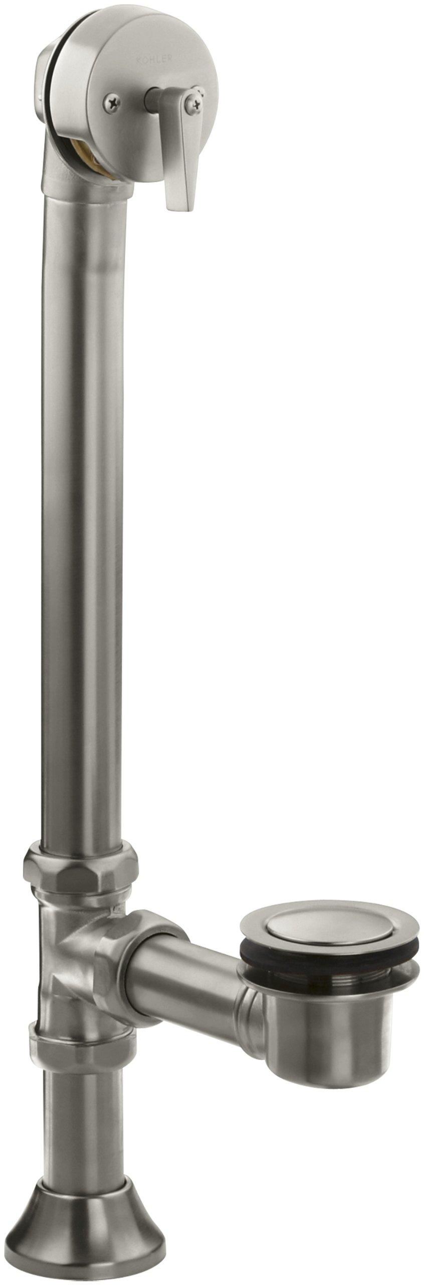 KOHLER K-7178-BN Clearflo Decorative 1-1/2-Inch Adjustable Pop-Up Bath Drain, Vibrant Brushed Nickel